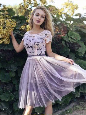 Lace Homecoming Dresses Aline Cheap Pink Short Prom Dress Party Dress JK662|Annapromdress