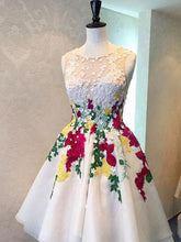 Beautiful High Low Homecoming Dresses Embroidery Short Prom Dress Party Dress JK670|Annapromdress