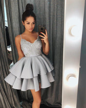 Lace Cute Homecoming Dresses Spaghetti Straps A Line Short Prom Dress Sexy Party Dress JK693|Annapromdress