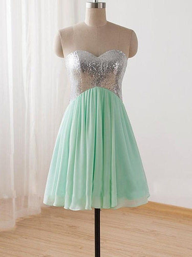 Cute Homecoming Dresses Sweetheart Sage Cheap Short Prom Dress Party Dress JK703|Annapromdress