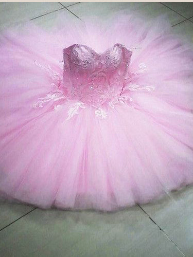 Ball Gown Homecoming Dresses Sweetheart Pink Short Prom Dress Chic Party Dress JK717|Annapromdress