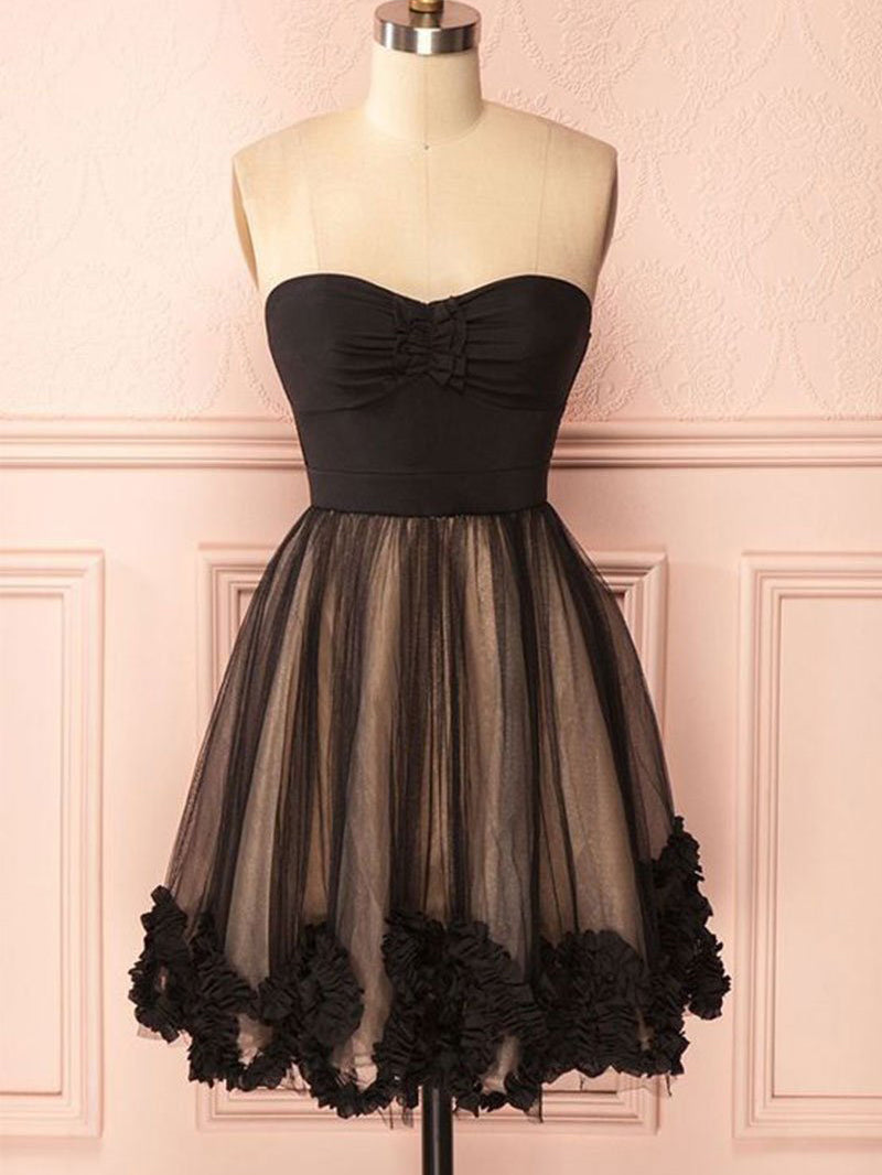 Short Black Dress a Line