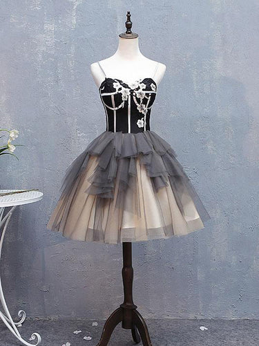 Cute Homecoming Dresses Little Black Dress Ball Gown Short Prom Dress Party Dress JK728|Annapromdress