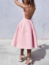 Open Back Pink Homecoming Dresses Simple Fashion Short Prom Dress Party Dress JK737|Annapromdress