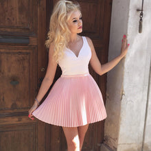 Pink Homecoming Dresses A Line Cute Beading Short Prom Dress Sexy Party Dress JK759|Annapromdress