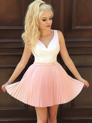 217999289bf Pink Homecoming Dresses A Line Cute Beading Short Prom Dress Sexy Party  Dress JK759