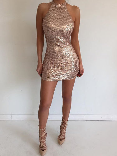 Sexy Homecoming Dresses Column Simple Cheap Short Prom Dress Gold Party Dress JK769|Annapromdress