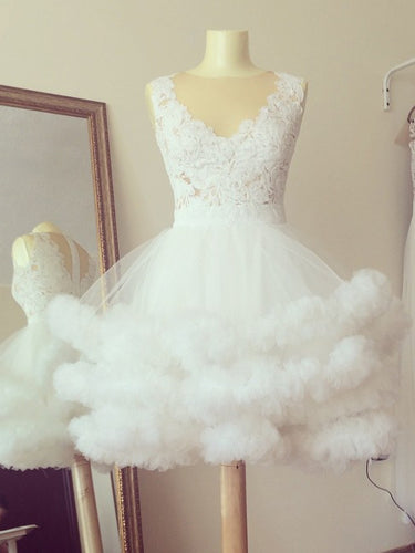 Ball Gown Homecoming Dresses Simple Cute Ivory Short Prom Dress Party Dress JK784|Annapromdress