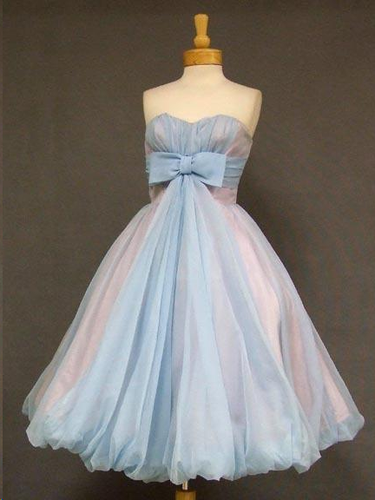 Simple Cheap Homecoming Dresses A-line Bowknot Ruffles Short Prom Dress Party Dress JK790|Annapromdress