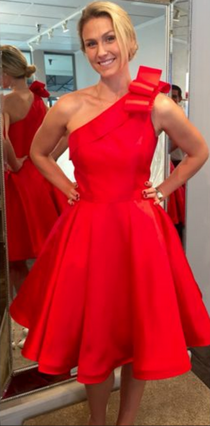 31121fbf7bd ... Simple Red Homecoming Dresses Cheap One Shoulder A Line Short Prom  Dress Party Dress JK832| ...