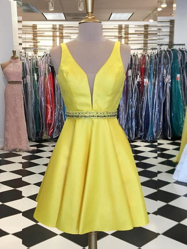 Sparkly Homecoming Dresses Aline Beading Straps Short Prom Dress Party Dress JK871|Annapromdress