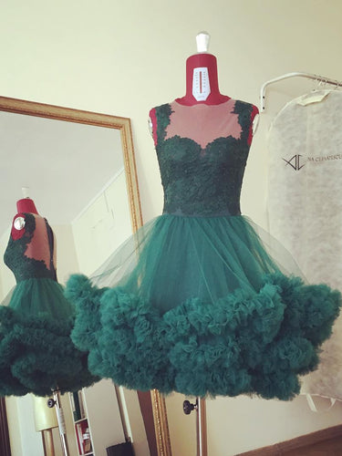 Beautiful Homecoming Dresses A-line Dark Green Short Prom Dress Cute Party Dress JK882|Annapromdress