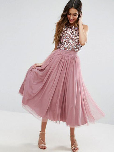Two Piece Homecoming Dresses Unique A Line Sparkly Short Prom Dress Party Dress JK909|Annapromdress