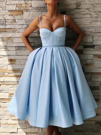 Simple Homecoming Dresses Spaghetti Straps Aline Short Prom Dress Cute Party Dress JK915|Annapromdress