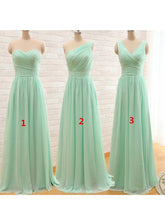 Bridesmaid Dresses Long Sweetheart V-neck Sage Bridesmaid Dresses #JKB002