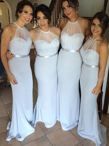 Bridesmaid Dresses Chiffon Sheath/Column Sexy Bridesmaid Dresses #JKB004