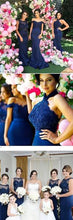 Bridesmaid Dresses Trumpet/Mermaid Sexy Dark Navy Bridesmaid Dresses #JKB011