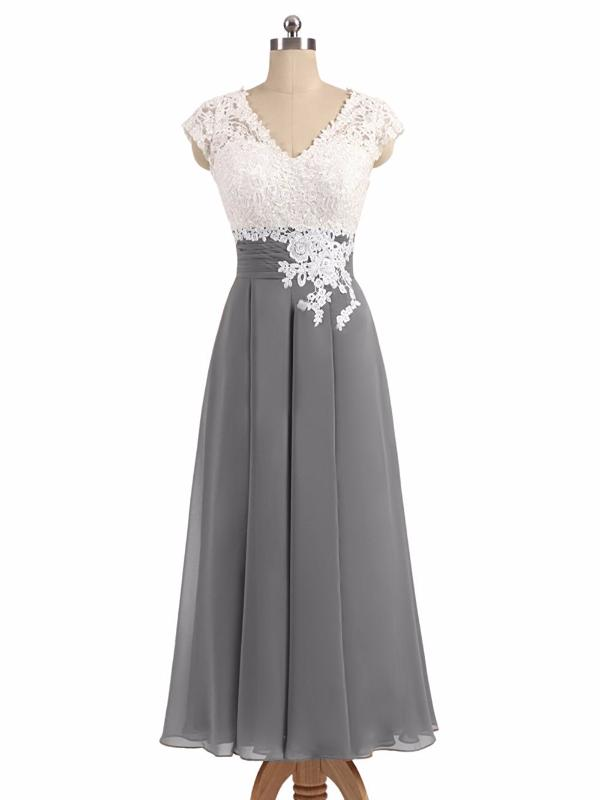 Cheap Bridesmaid Dresses A-line V-neck Floor-length Appliques Bridesmaid Dresses #JKB022
