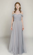 Cheap Bridesmaid Dresses Off-the-shoulder Floor-length Long Bridesmaid Dresses JKB023
