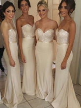 Long Bridesmaid Dresses Sweetheart Ivory Short Train Sexy Bridesmaid Dresses JKB044