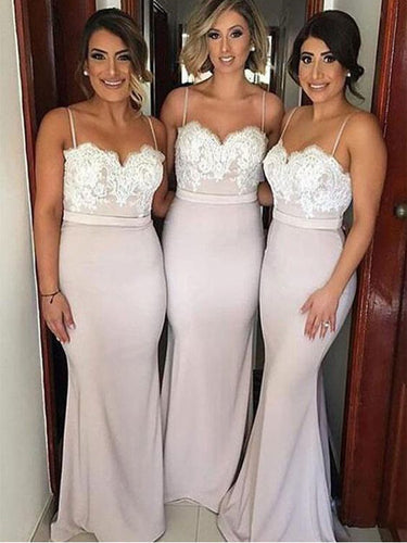 Sexy Bridesmaid Dresses Trumpet/Mermaid Spaghetti Straps Bridesmaid Dresses JKB048