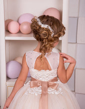 2017 Flower Girl Dresses Long Beautiful Ribbons Belt Appliques JKF013