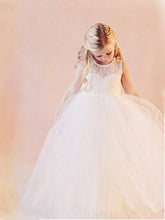 2017 Flower Girl Dresses Long Lace Cute Floor-length Tulle JKF027