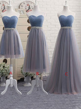 Prom Dresses Tulle A-line Sweetheart Prom Dress/Evening Dress #JKL018