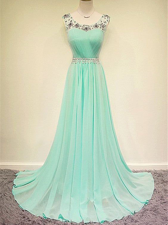 Prom Dresses Pearl Pink Rhinestone Long Prom Dress/Evening Dress #JKL022
