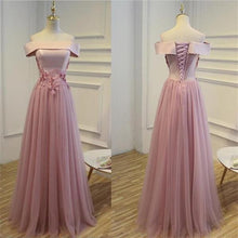 Prom Dresses Lace-up Off-the-shoulder Tulle Prom Dress/Evening Dress #JKL025