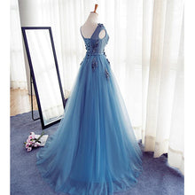 Prom Dresses Scoop A-line Appliques Long Prom Dress/Evening Dress #JKL026