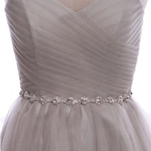 Prom Dresses Tulle A-line Scoop Sequins Prom Dress/Evening Dress #JKL032