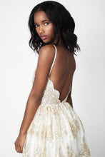 Prom Dresses Lace Champagne Backless Sexy Prom Dress/Evening Dress #JKL038