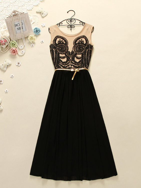 Black Cute Prom Dresses Sashes/Ribbons Belt Long Prom Dress/Evening Dress JKL041