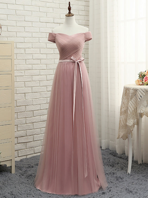 Beautiful Prom Dress Off-the-shoulder Tulle Long Prom Dress/Evening Dress JKL042