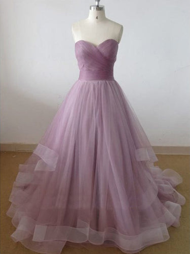 Beautiful Prom Dresses Short Train Lilac Prom Dress/Evening Dress JKL046