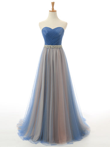 Beautiful Prom Dresses Sweetheart Tulle Long Prom Dress/Evening Dress JKL056
