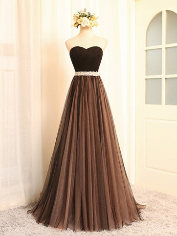 Chic Prom Dresses Sexy Sweetheart Tulle Long Prom Dress/Evening Dress JKL057
