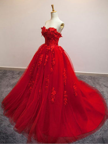 Sexy Prom Dresses Sweetheart Ball Gown Lace Prom Dress/Evening Dress JKL088