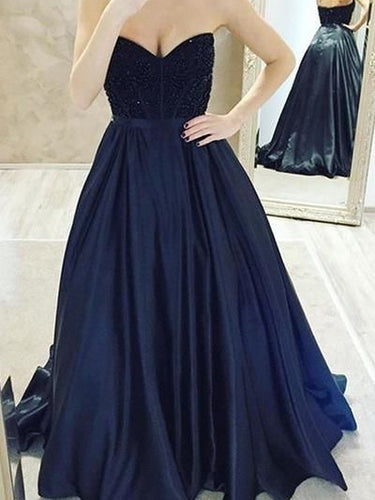 Beautiful Prom Dresses Sweetheart Sweep Train Sexy Prom Dress JKL1012|Annapromdress