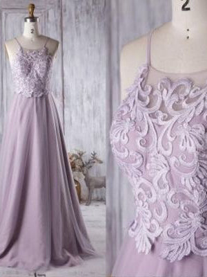 Chic Prom Dresses A-line Spaghetti Straps Long Prom Dress JKL1029|Annapromdress
