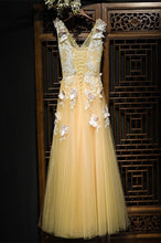 Beautiful Prom Dresses Butterfly A-line Floor-length Long Prom Dress JKL1030|Annapromdress