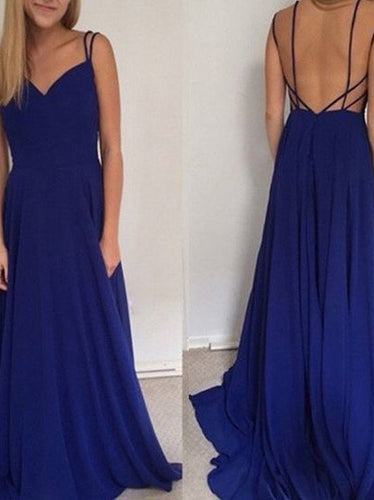 Cheap Prom Dresses A-line Simple Open Back Prom Dress Sexy Evening Dress JKL1031|Annapromdress