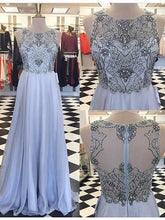 Beading Prom Dresses Aline Floor-length Sparkly Long Prom Dress JKL1032|Annapromdress