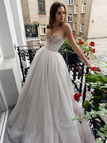 Beautiful Prom Dresses Sweetheart Aline Long Beading Prom Dress JKL1034|Annapromdress