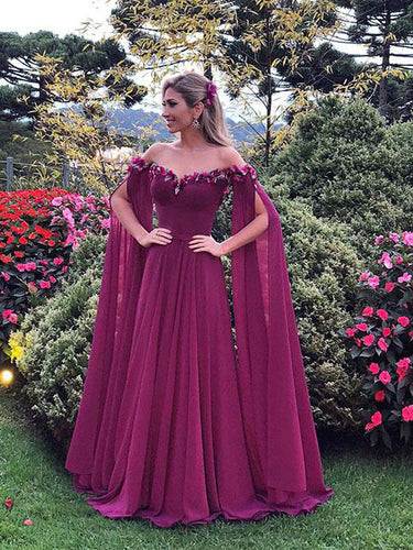 Long Sleeve Prom Dresses A-line Chic Prom Dress Long Evening Dress JKL1035|Annapromdress
