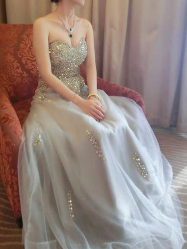 Beautiful Prom Dresses Sweetheart A line Beading Prom Dress Sexy Evening Dress JKL1051|Annapromdress