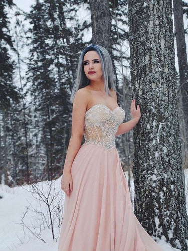 Beautiful Prom Dresses A-line Beading Sweetheart Prom Dress Sexy Evening Dress JKL1083|Annapromdress