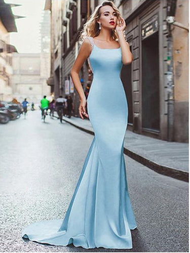 Open Back Prom Dresses Sparkly Long Mermaid Prom Dress Sexy Evening Dress JKL1104|Annapromdress