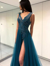 Beautiful Prom Dresses Open Back Fairy Simple Long Slit Sexy Prom Dress JKL1107|Annapromdress